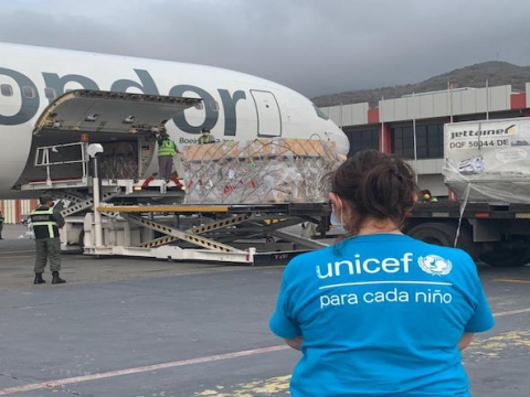 The Venezuelan government has collaborated with several multilateral agencies. A 12-ton Unicef aid shipment arrived from Germany last Friday. (VTV)